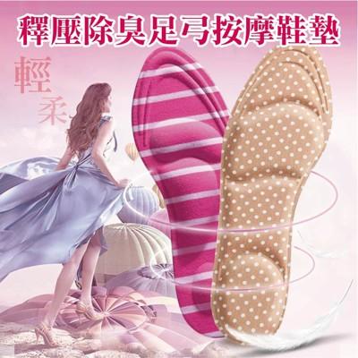 4D釋壓除臭按摩鞋墊 (1.4折)
