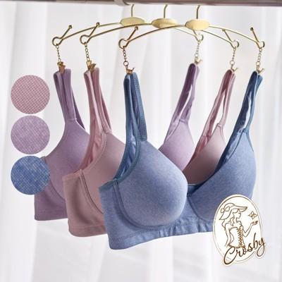 【Crosby 克勞絲緹】冰礦涼感 無鋼圈內衣  S1616(B-C)藍色/豆沙色/紫色 (8.3折)