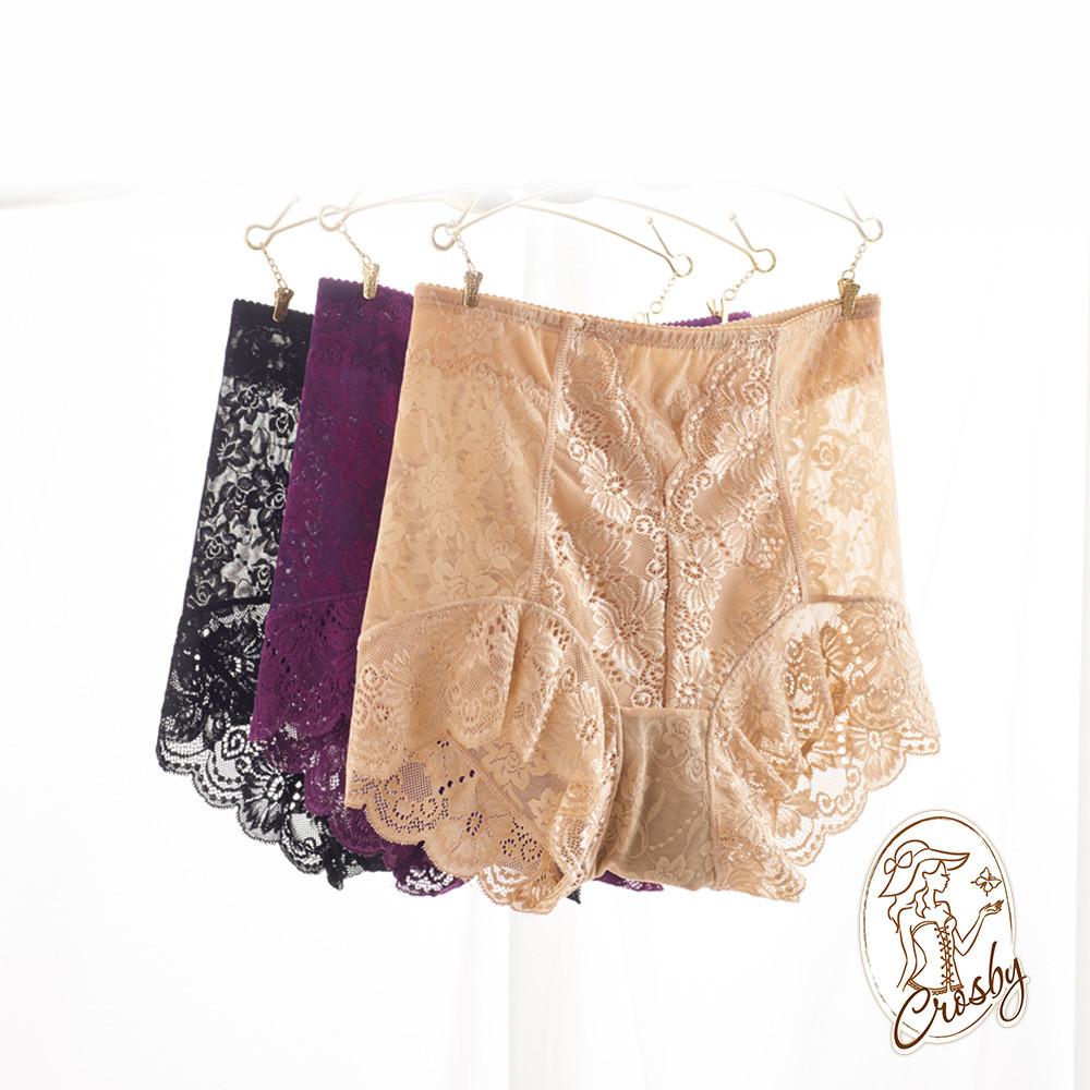 crosby 克勞絲緹日版無痕薄蕾絲輕束褲 27c363 (m-q 黑/膚/紫)