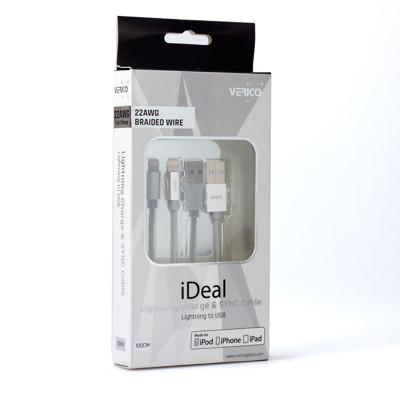 【酷購Cutego】Verico Apple 原廠認證MFI Lightning鋁合金頭編織傳輸線1 (7.8折)