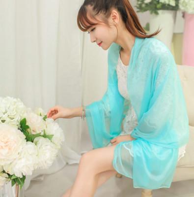 韓版時尚百搭糖果色熒光水晶紗圍巾 (2折)