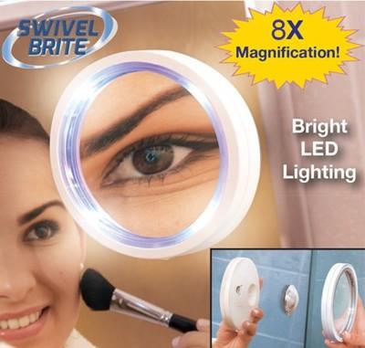 吸附式8倍放大 LED 燈化妝鏡1組 (2.8折)