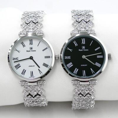Royal Crown義大利 超薄羅馬字鑲鑽手鍊錶/手錶(2601) (9.1折)