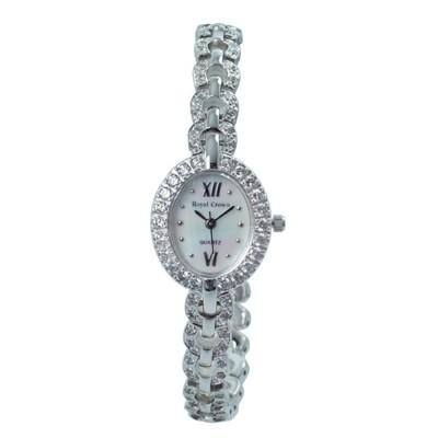 Royal Crown 絢爛橢圓滿晶鑲鑽錶/手錶(2100) (7.7折)