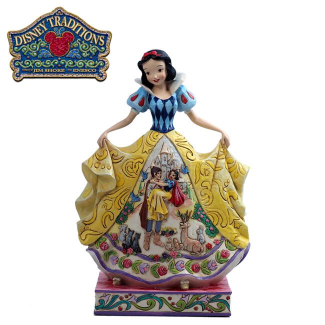 enesco 白雪公主 裙襬場景 塑像 公仔 精品雕塑 迪士尼 disney119252