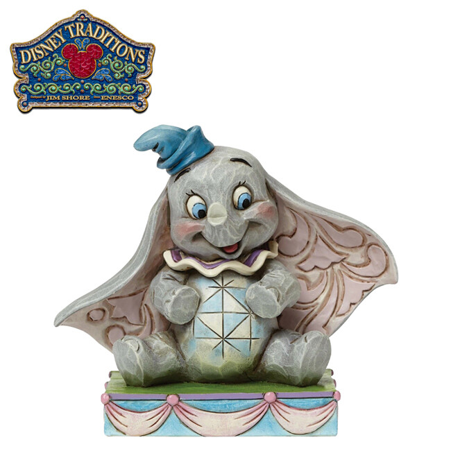 enesco 小飛象 坐姿塑像 公仔 塑像 精品雕塑 dumbo 迪士尼 disney 751834