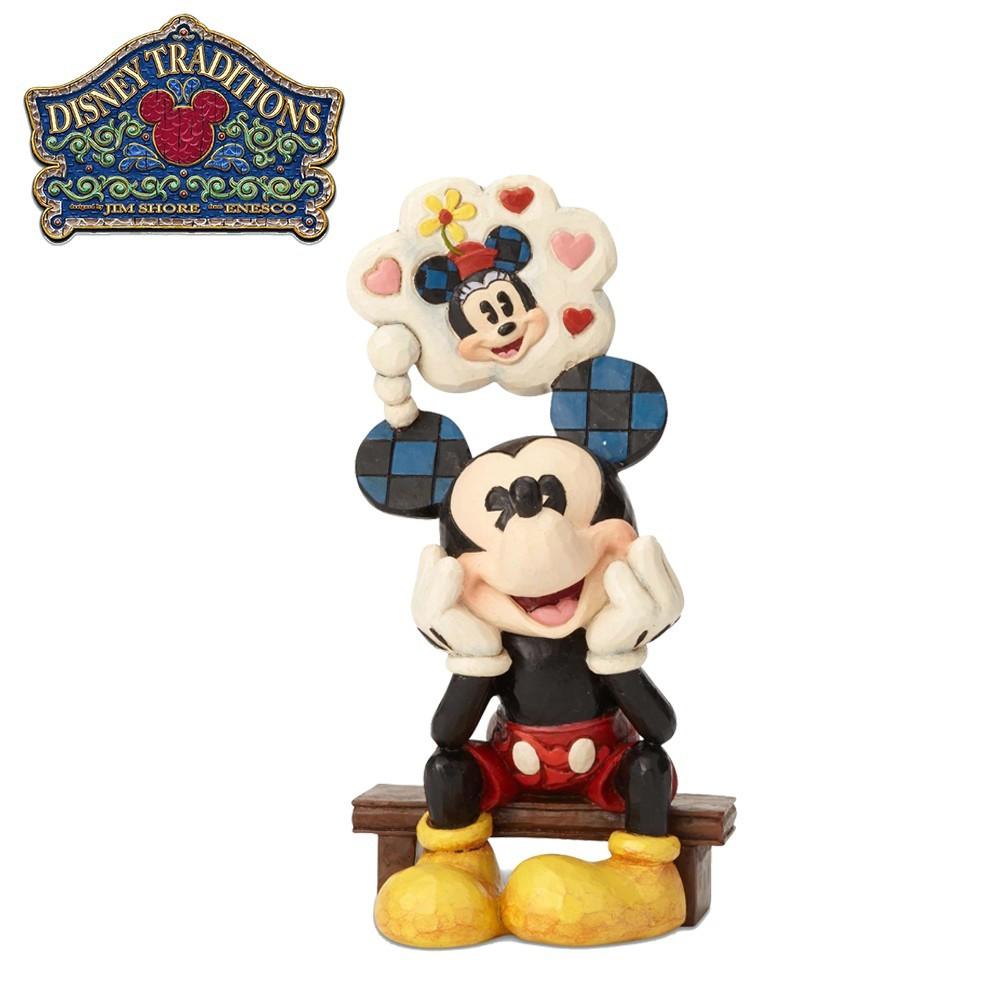 enesco 米奇戀愛中 塑像 公仔 精品雕塑 米老鼠 mickey 迪士尼 正版授權 973458