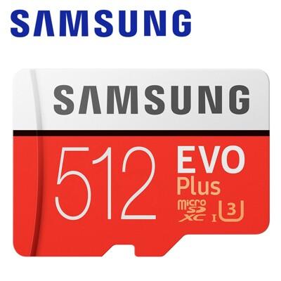 SAMSUNG 三星 512GB EVO Plus microSDXC TF U3 記憶卡 附轉卡 (5折)