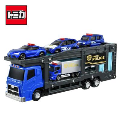 TOMICA 警察運輸車組 附4台小車 玩具車 汽車運輸車 城鎮系列 場景玩具 175988 (5折)