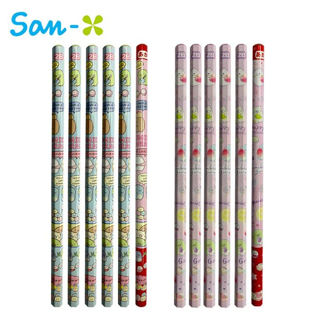 角落生物 2b鉛筆 6入組 日本製 紅鉛筆 鉛筆 六角鉛筆 圓軸鉛筆 777872 777889