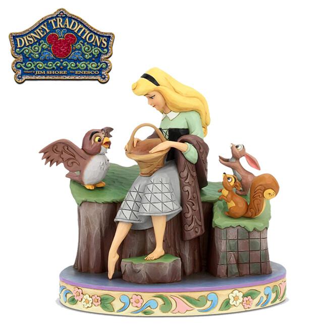 enesco 睡美人 60週年 塑像 公仔 精品雕塑 奧蘿拉 迪士尼 disney219247