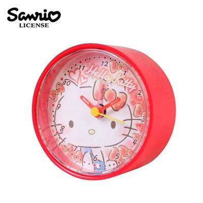 凱蒂貓 圓形鬧鐘 造型鐘 指針時鐘 Hello Kitty 三麗鷗 Sanrio 【224697】 (4.7折)