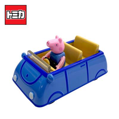 TOMICA 騎乘系列 喬治豬 x 家庭車 玩具車 佩佩豬 粉紅豬小妹 多美小汽車 【136965】 (4.3折)