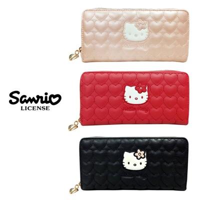 凱蒂貓 愛心造型 長夾 皮夾 錢包 Hello Kitty 三麗鷗 917619 917817 (5折)