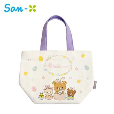 拉拉熊 帆布 保冷袋 手提袋 便當袋 保冷提袋 懶懶熊 Rilakkuma San-X 734585 (4.9折)