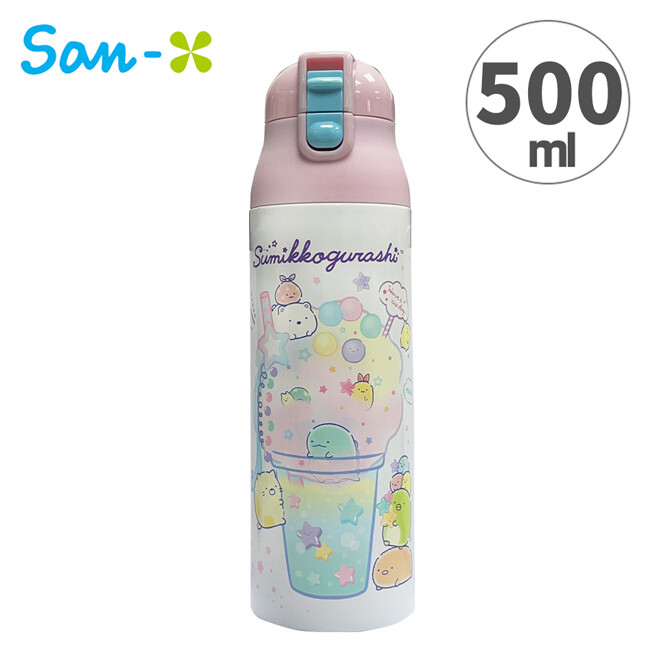 角落生物 彈蓋型 保溫瓶 500ml 不鏽鋼保溫瓶 隨身瓶 保冷瓶 水壺 角落小夥伴 779227