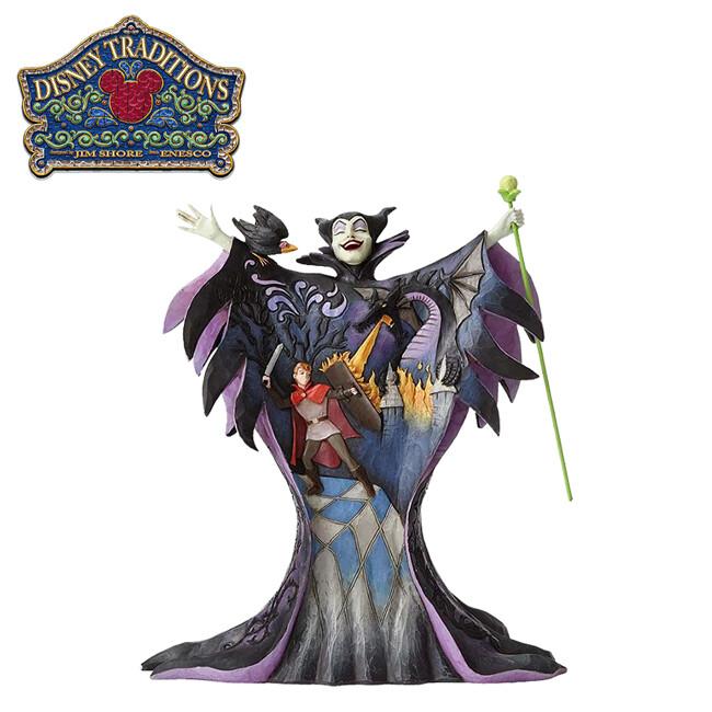 enesco 黑魔女 場景塑像 公仔 精品雕塑 塑像 睡美人 迪士尼 disney890595
