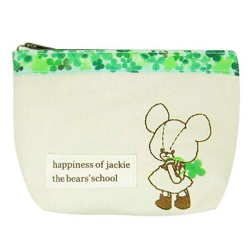 小熊學校 幸運草 刺繡 船型 化妝包 收納包 筆袋 the bears' school 099648