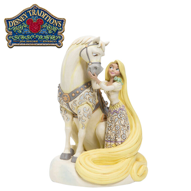 enesco 樂佩 純白塑像 公仔 精品雕塑 長髮公主 魔髮奇緣 迪士尼 disney 219230