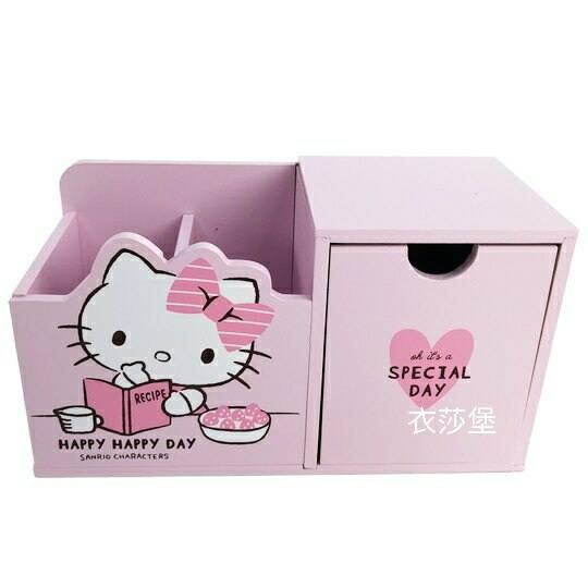 hello kitty 筆筒收納盒  桌上型收納盒 (粉)