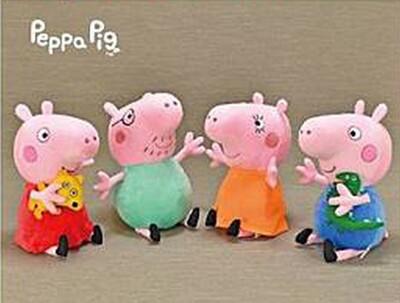 正版授權佩佩豬/喬治/爸爸/媽媽款6吋可吊娃娃 (5.2折)