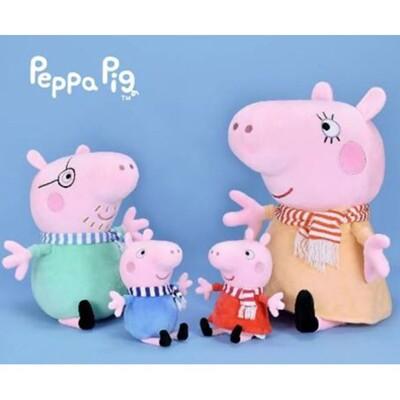 正版授權佩佩豬/喬治全家福12吋圍巾款娃娃 (6.1折)