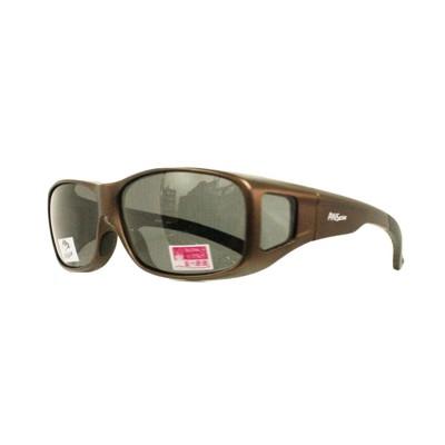 2017新款-近視族包覆 套鏡偏光太陽眼鏡Polarized寶麗來偏光(9407咖啡) (1折)