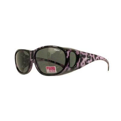 2017夏季豹紋新款-套鏡偏光鏡太陽眼鏡(9416紫豹) (1折)