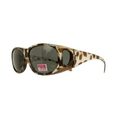 2017夏季豹紋新款-套鏡偏光鏡太陽眼鏡(9416茶豹) (1折)