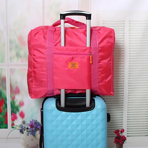 插桿式兩用摺疊旅行手提袋