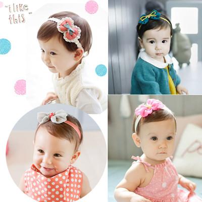 寶寶可愛雪紡蕾絲蝴蝶結系列髮帶 (1.3折)