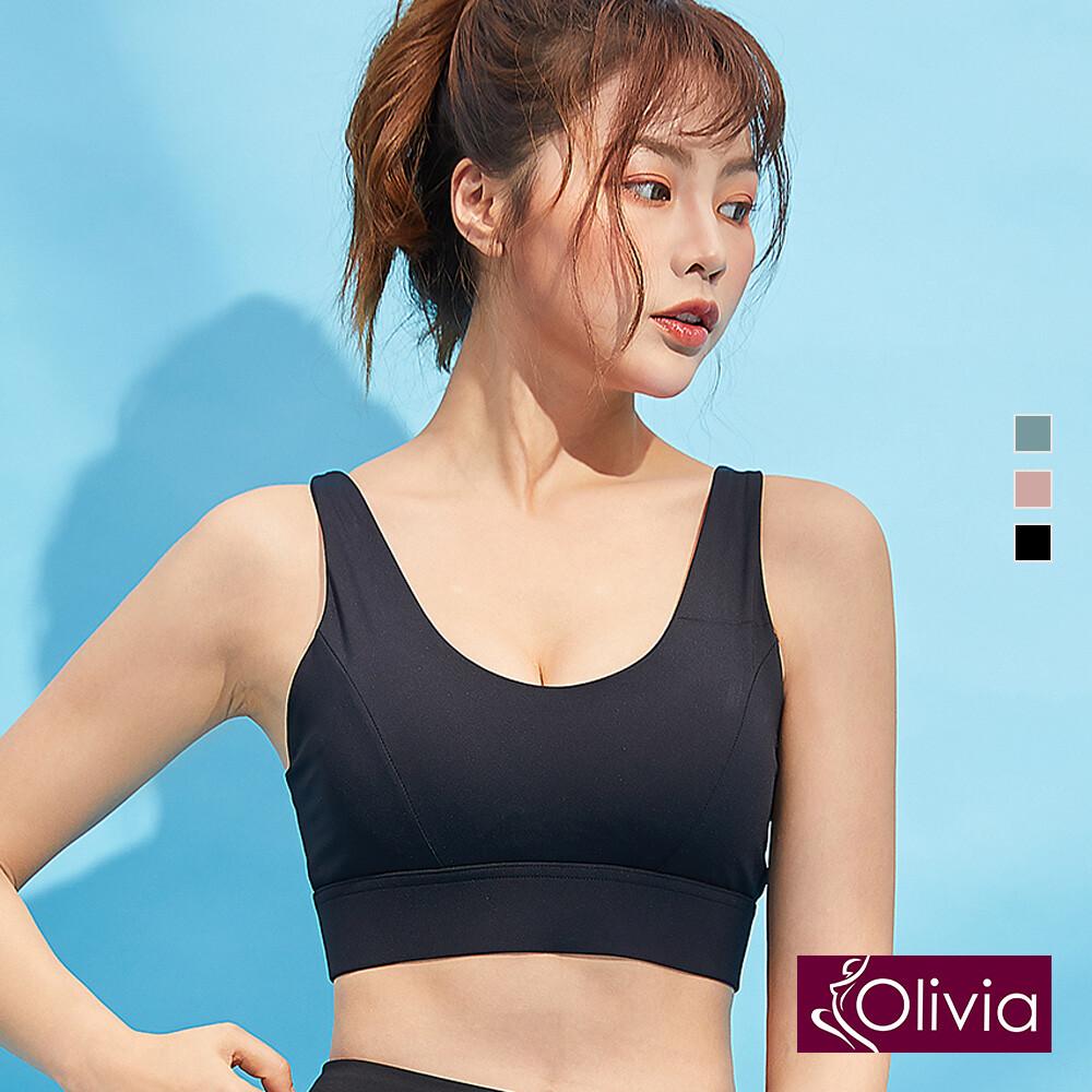 olivia後交叉美背中度運動內衣