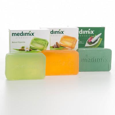 【印度MEDIMIX當地特價版】草本香皂(三色特惠組125克) (4折)