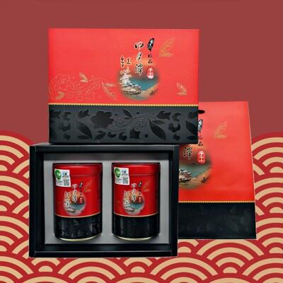 【老師傅】極品手工日月潭有機紅玉紅茶禮盒-台茶18號(75克x2入/附提袋) (8.7折)