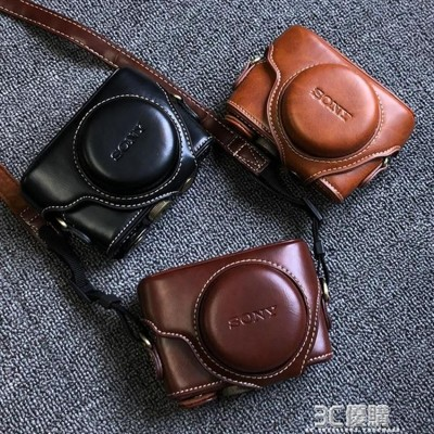 索尼黑卡rx100m6相機包dsc-rx100 m2 m3 m4 m5a m7相機皮套殼復古 (10折)