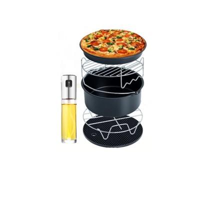 氣炸鍋超值6件套氣炸鍋配件串燒架 飛利浦arlink 飛樂karalla科帥 米姿噴油瓶 烘烤鍋 (7.3折)