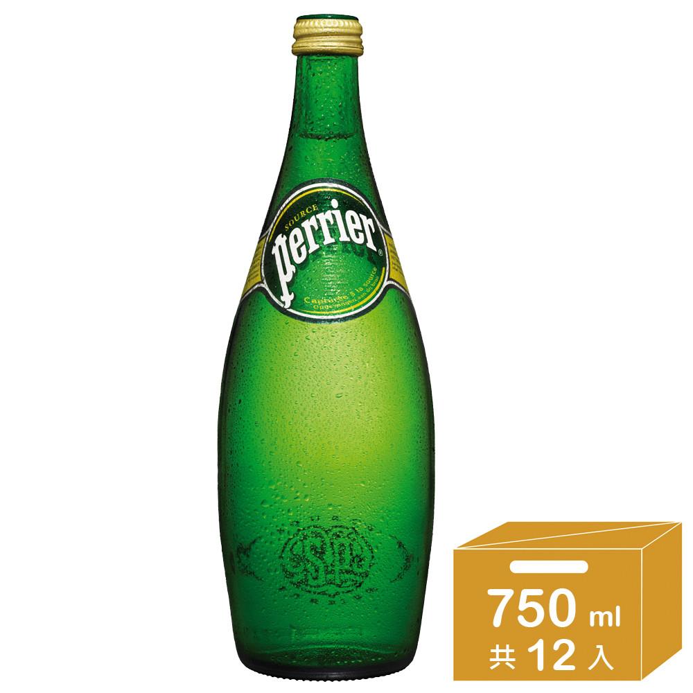 法國perrier 氣泡天然礦泉水 750ml x12瓶/箱