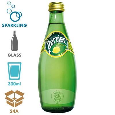 法國 perrier 沛綠雅 氣泡天然礦泉水-檸檬口味(330mlx24入)官方直營 (9.2折)