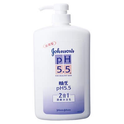 嬌生 pH5.5 潤膚沐浴乳-2合1 (1000mlx6入) (7.9折)