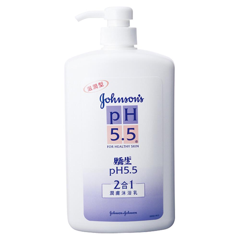 嬌生 ph5.5 潤膚沐浴乳-2合1 (1000mlx12入)箱購