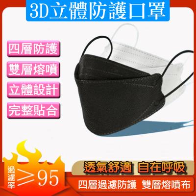 4D立體四層防護口罩 雙層熔噴布 KF94  10入 (2.4折)