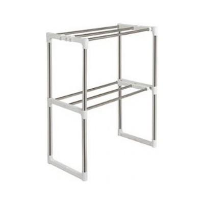 雙層不鏽鋼伸縮置物架 diy 收納架 多功能置物架 廚房置物架 浴室置物架 單層雙層置物架 - hw