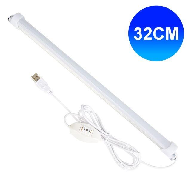 線控usb超薄磁吸led燈管 (32cm) usb燈管 led燈 照明燈 探照燈 工作燈 usb檯燈