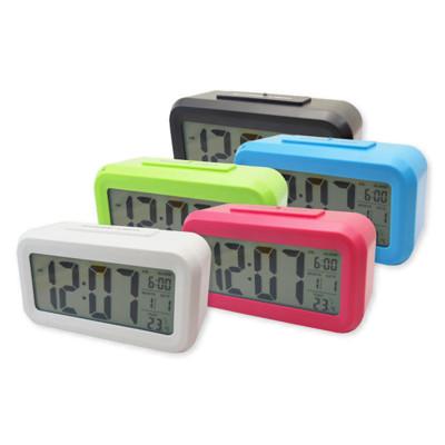 【A-HUNG】創意LCD電子鬧鐘 大螢幕LED時鐘 溫度計 數字鐘 光控聰明鐘 電子鐘 電子時鐘 (4.1折)