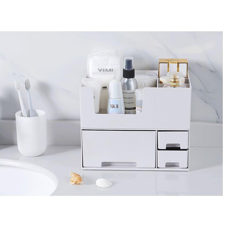 化妝品收納盒大號箱抽屜整理櫃護膚梳妝台口紅浴室置物架