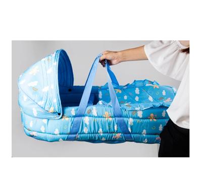 嬰兒提籃便攜搖籃 睡籃車載新生嬰兒手提籃 嬰兒籃 寶寶搖籃床 (5.3折)