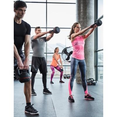 迪卡儂4-16kg壺鈴球浸塑啞鈴男女訓練肌肉鍛煉包膠提壺 cro - 16kg (7.4折)