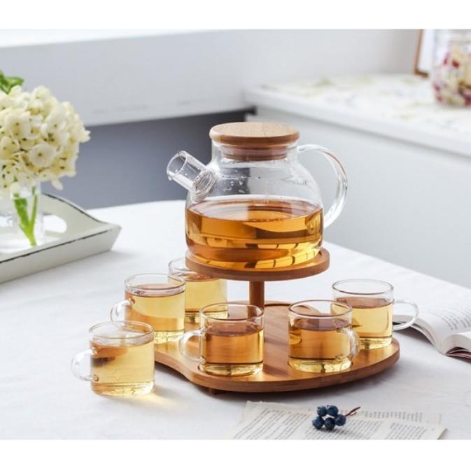 一件免運日式 玻璃茶壺 套裝 家用 下午茶 水果茶 紅茶 過濾水壺 可加熱 花草 茶具