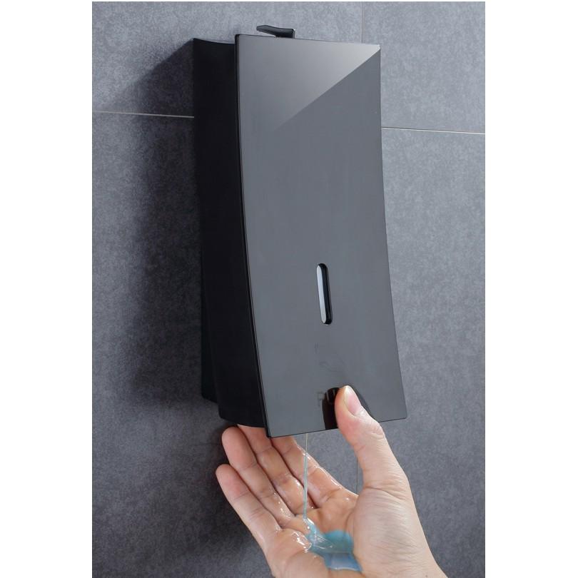 皂液器壁挂洗手液按壓瓶衛生間酒店沐浴露盒子壁挂式賓館浴室黑色