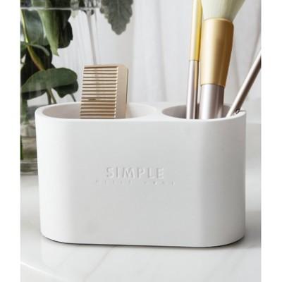 創意個性雙孔水泥筆筒桌面擺件辦公筆筒桌面筆桶收納盒 - 款式備註 (4.9折)